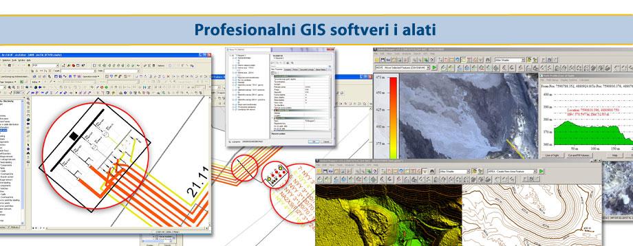 Profesionalni GIS softveri i alati