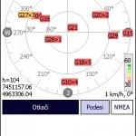 Prikaz vidljivih satelita